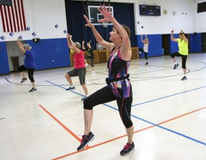 Carol Johnson, of Vernon, leads a Dancefit class at St. James activity center on Nov. 11. Johnson has been leading exercise classes since 1981. Classes are held Wednesday mornings.